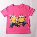 Camisa qualidade Superior dos desenhos animados camisetas camisetas despicable me Minion asseclas roupas assecla traje meninos roupas crianças Camisetas