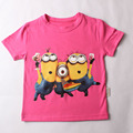 Minion shirt Top quality cartoon t shirts camisetas despicable me minions clothes minion costume boys clothes children T-shirts
