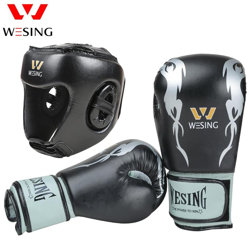 Wesing boxing training equipment sanda equipment  boxing headgear boxing gloves leather    1