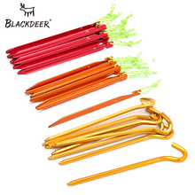 BLACKDEER 8pcs Outdoor Camping Nail Pegs For Tent Aluminum Alloy ABS Hiking Hook Nail Tent Stake For Grassland 10pcs set tent pegs aluminum alloy tent nail tent stake nails ground pin camping hiking outdoor tool inflatable tent accessories