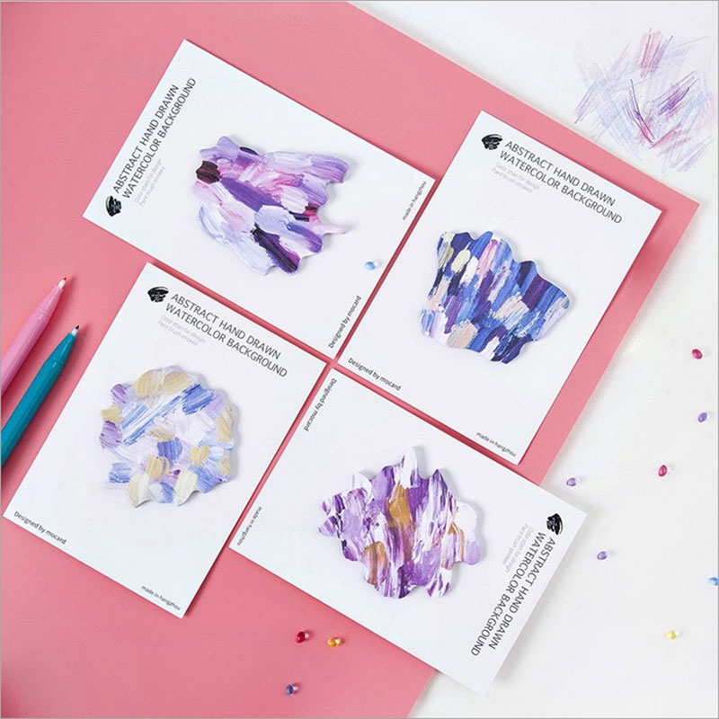 1X Creative Color ink weekly plan Sticky Notes Post Memo Pad kawaii stationery School Supplies Planner Stickers Paper