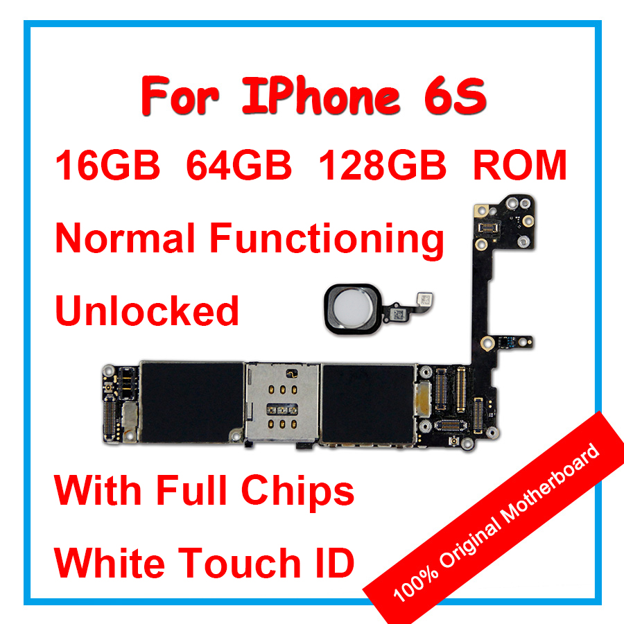 Original Motherboard For iPhone 6S 16GB+64GB+128GB 100%