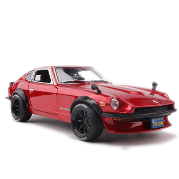 1:18 Scale Diecast Alloy Sports Cars Model For Nissan Datsun 240z With Steering Wheel Control Front Wheel Steering Toy Gift 1