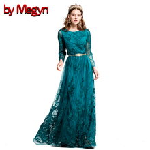 by megyn autumn maxi dress embroidered long sleeve women elegant long evening dress wedding party dress vestido de festa longo