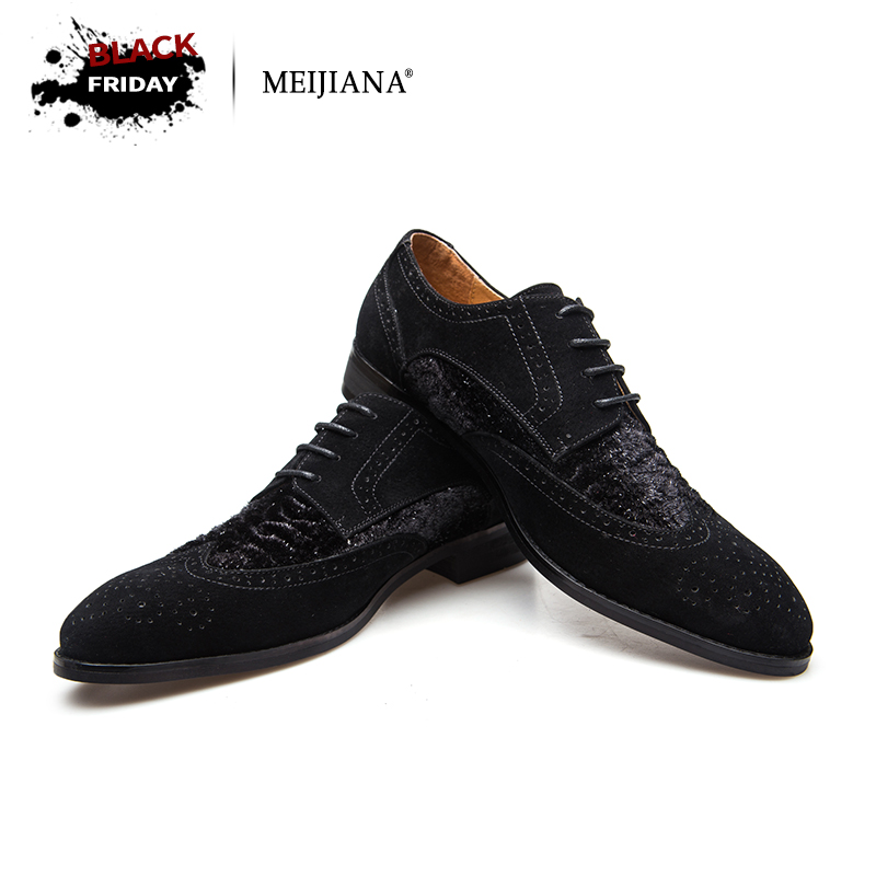 Men oxfords big size handsome comfortable MeiJiaNa brand men wedding shoes
