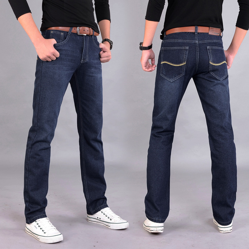 New Brand Men's Ripped Elastic High Waist Jeans 2019 Spring Summer Fashion Casual High Street Loose Straight Slim Denim Pants