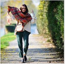 New Lady Blanket Pashmina Cashmere Plaid Cozy Checked font b Tartan b font Scarf Wraps shawl