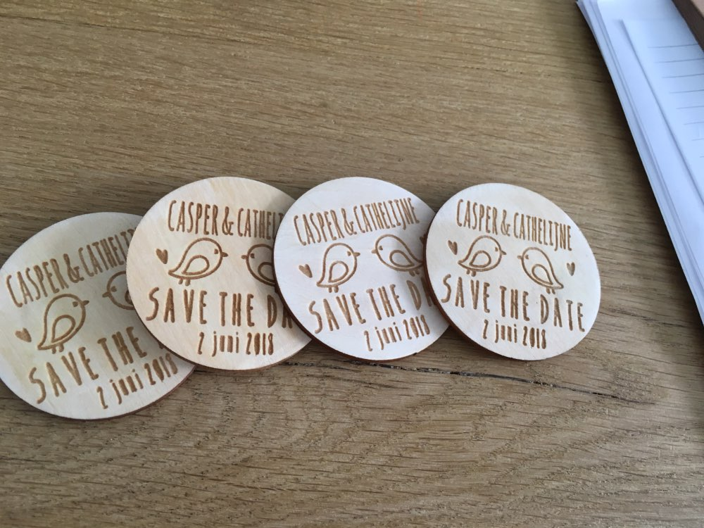 Personalized Wooden Save The Date Magnets Rustic Wooden Magnets