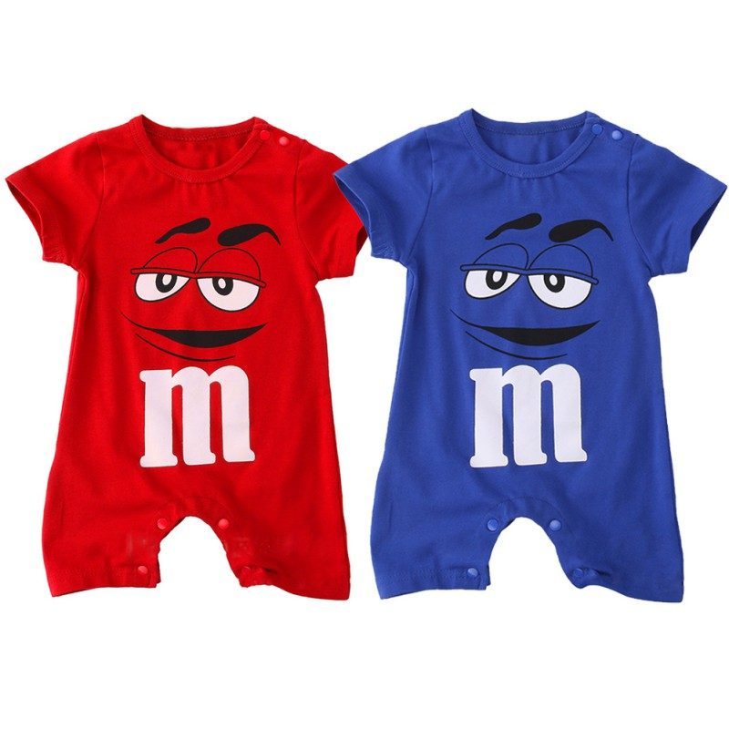 2018 Summer Newborn Baby Boy   Romper   Short Sleeve Jumpsuit Cartoon Printed Baby   Rompers   Overalls Newborn Baby Clothes 2 Colors