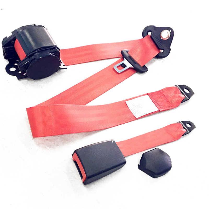 1 cinturón de seguridad Universal para asiento de coche Lap 3 puntos de viaje ajustable retráctil 88-137 cm cinturón de seguridad para asiento de coche correa Auto accesorio