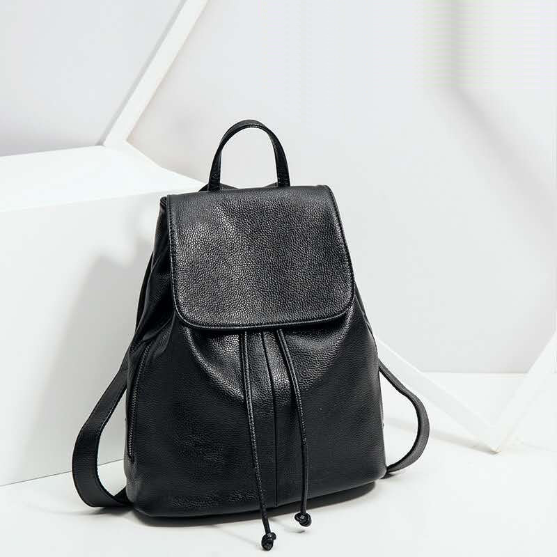 Women Fashion Lichee Pattern Genuine Leather Backpack Girls Leather Backpack Teenage School Bag Mochila High Quality Satchel dusun women high quality oxford backpack brand design mochila women school bag for teenage girls fashion women backpack hot sale