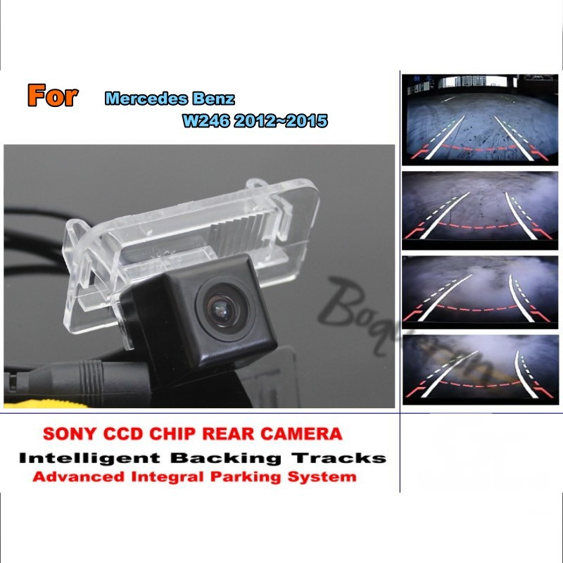 Smart Tracks Chip Camera / For Mercedes Benz B Class W246 2012~2015HD CCD Intelligent Dynamic Parking Car Rear View Camera for mercedes benz c class mb w205 2014 2016 smart tracks chip camera hd ccd intelligent dynamic parking car rear view camera