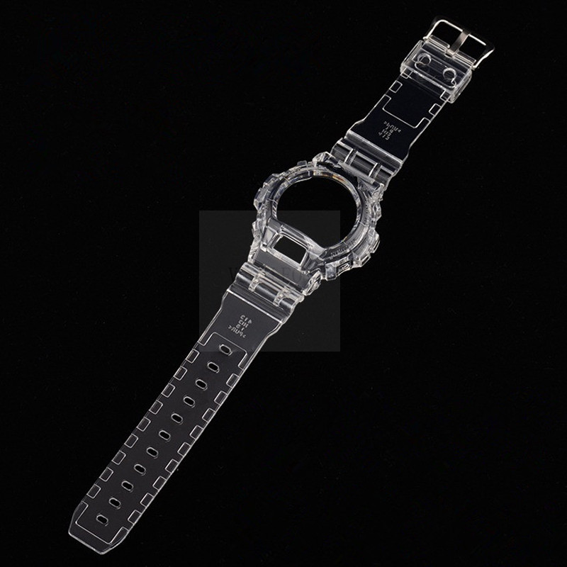 Silicone Watchband Bezel For DW6900 DW6930  Rubber Strap Sports Waterproof Watch Straps Transparent Watch Band+Case New