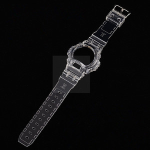 Silicone Watchband Bezel For DW6900 DW6930 Rubber Strap Sports Waterproof Watch Straps Transparent Watch Band+Case New(China)