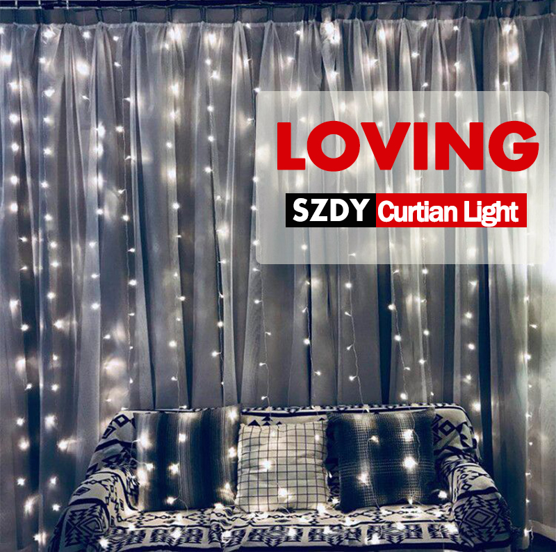 3x3m 300 LEDS string  lights with memory function Christmas party garland curtain flashing wedding decoration lights Outdoor3x3m 300 LEDS string  lights with memory function Christmas party garland curtain flashing wedding decoration lights Outdoor