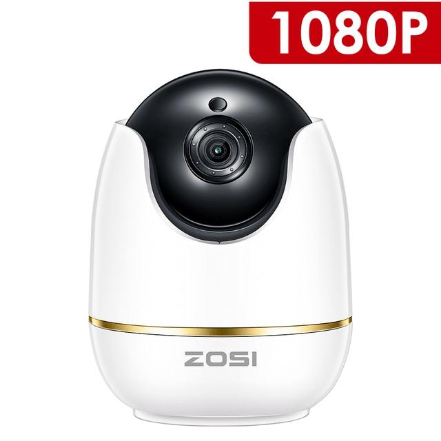 ZOSI 1080 P HD Wifi inalámbrico casa seguridad IP Cámara 2.0MP IR red CCTV cámara de vigilancia con dos vías de Audio Monitor de bebé