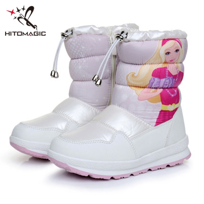 HITOMAGIC Girls Snow Boots Kids Snowshoes For Children Felt Rubber Shoes Ankle Waterproof Warm Plush Winter Girl Boot Princess  HITOMAGIC Girls Snow Boots Kids Snowshoes For Children Felt Rubber Shoes Ankle Waterproof Warm Plush Winter Girl Boot Princess