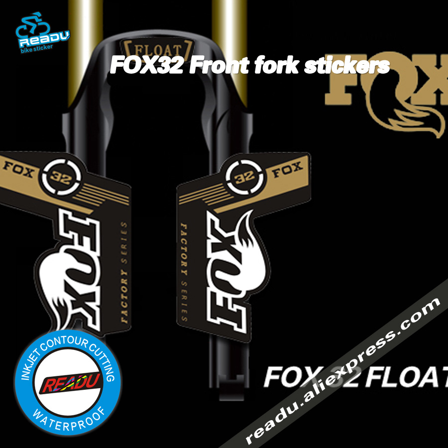 Forcella della bici Sticker FOX di FABBRICA 32 Forcelle Anteriori Decorativo 26er 27.5er 29er Cornici Protezione FOX32 adesivi