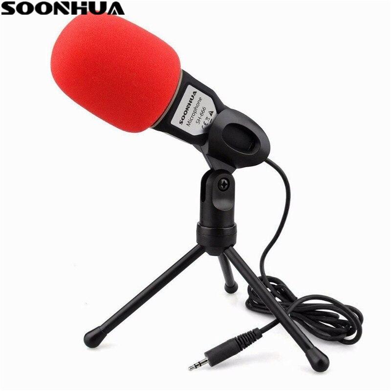 Профессиональный конденсаторный микрофон SOONHUA, Студийный микрофон для подкастинга, ПК, ноутбука, Skype, MSN, новые микрофоны