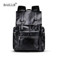 Hot Sale PU LeatherTravel Backpack Waterproof Backpack Leather Men Laptop Backpack College Men Laptop Fashion Travel Quality Bag