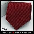 Jacquard color Sólido A Rayas Corbatas Corbata de lazo de Los Hombres regalos de Boda Formal de 8 cm (3.15 pulgadas) el envío libre