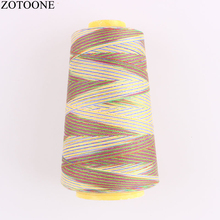 ZOTOONE 40S/2 Machine Embroidery Thread 3000Y/Spool Industrial Polyester Sewing Colorful for Leather Lines D