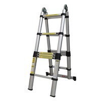 88cm 2x1.9 Thickening Aluminum Retractable Multifunctional Folding Ladder Double Face Telescopic Step Ladder for Domestic Tool