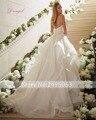 Dreagel Elegant Sweetheart Appliques Princess A-line Wedding Dresses 2017 Luxurious Beaded Spaghetti Straps Vintage Bridal Dress