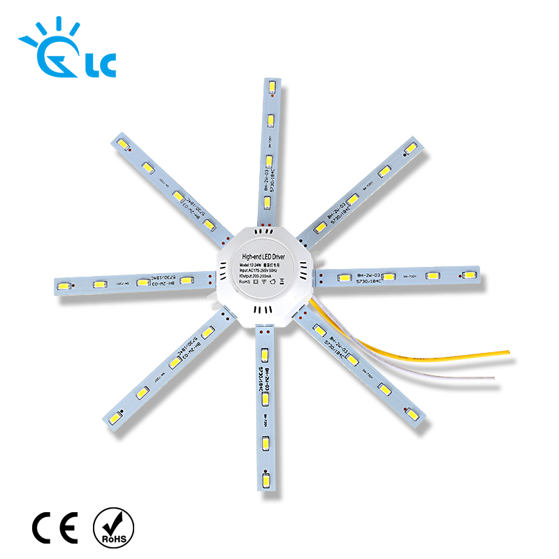 все цены на LED Light Board 220v LED Lamp Board LEDs Celling Lamp 5730SMD 12W 16W 20W 24W  White Octopus Round Kitchen Bedroom Light онлайн