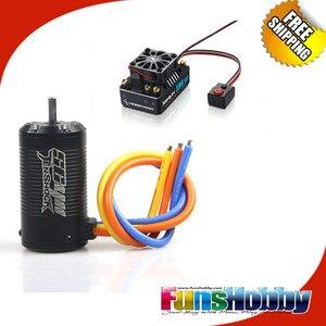 Image 1 - Tenshock SC411 krótki kurs SC411 bezszczotkowy czujnik 4 PoleMotor Hobbywing XR8 SCT 140A bezszczotkowy ESC kontrola prędkości kontroler