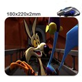 Wile Coyote And  Roadrunner Rectangle Non - Slip Rubber 3 D Printing Gaming Rubber Durable Notebook Mouse Pad 220 X180x2mm
