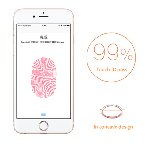 Image 4 - NYFundas 100PCS di Tocco ID Autoadesivo Domestico del Tasto per il iPhone di Apple 7 6S 6 Più SE 5S 5 5C iPad Pro Supporto di Impronte Digitali del telefono adesivi