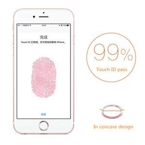 Image 4 - Nyfundas 100 Chiếc Touch ID Nút Home Miếng Dán Kính Cường Lực Cho iPhone 7 6S 6 Plus SE 5S 5 5C iPad Pro Hỗ Trợ Vân Tay Miếng Dán Điện Thoại