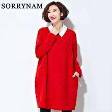Maternity sweater autumn and winter maternity clothing plus size long sleeve sweater one piece dress pullover