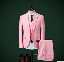 Wedding the groom suit the latest hot sale men's formal occasions ball gown three-piece suit (jacket + pants + vest)