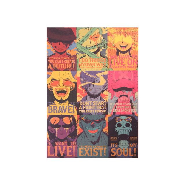 One Piece Classic Characters Collection Poster 50.5X35cm