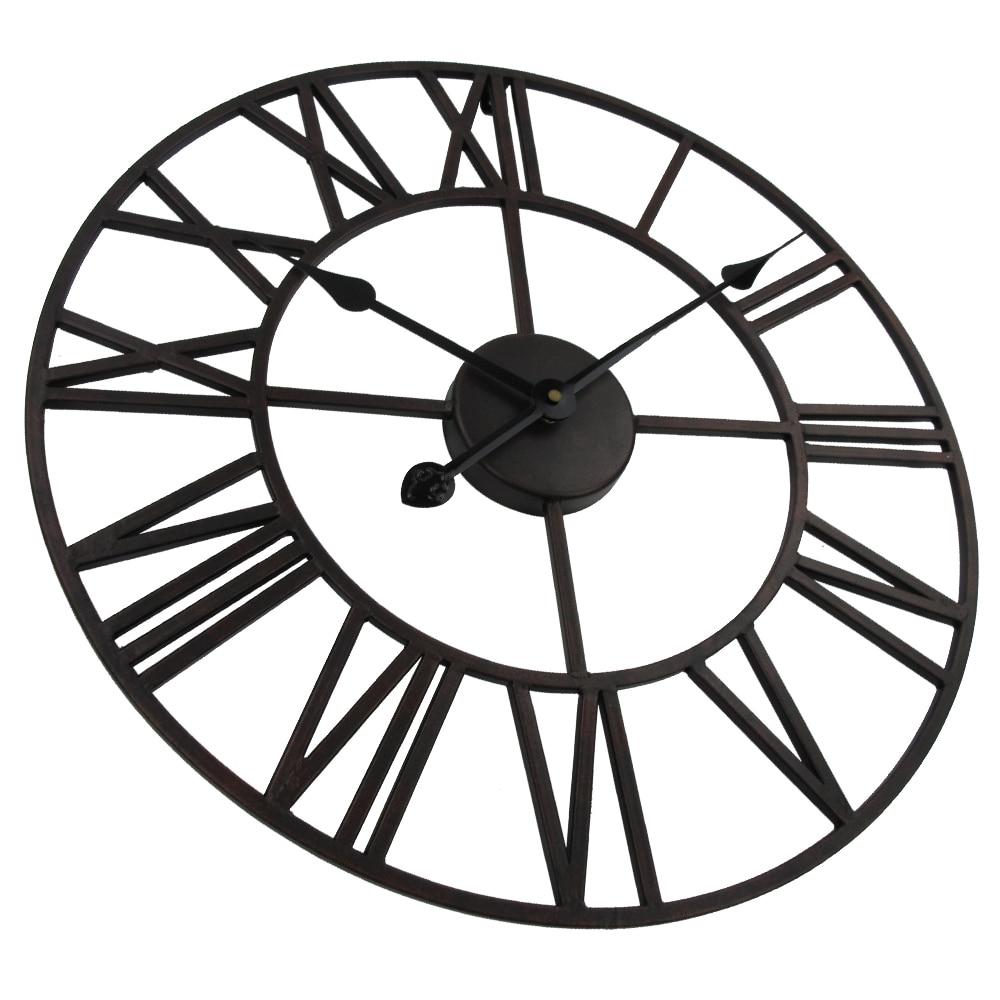 Vintage 80cm 50cm große Wanduhr Schmiedeeisen Uhr Uhr Saat Classic - Wohnkultur - Foto 5