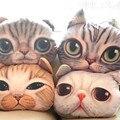 Хлопок 3D животные кошка стиль мягкие игрушки подушка подушка плюшевые игрушки детская комната диван автомобиля декоративные