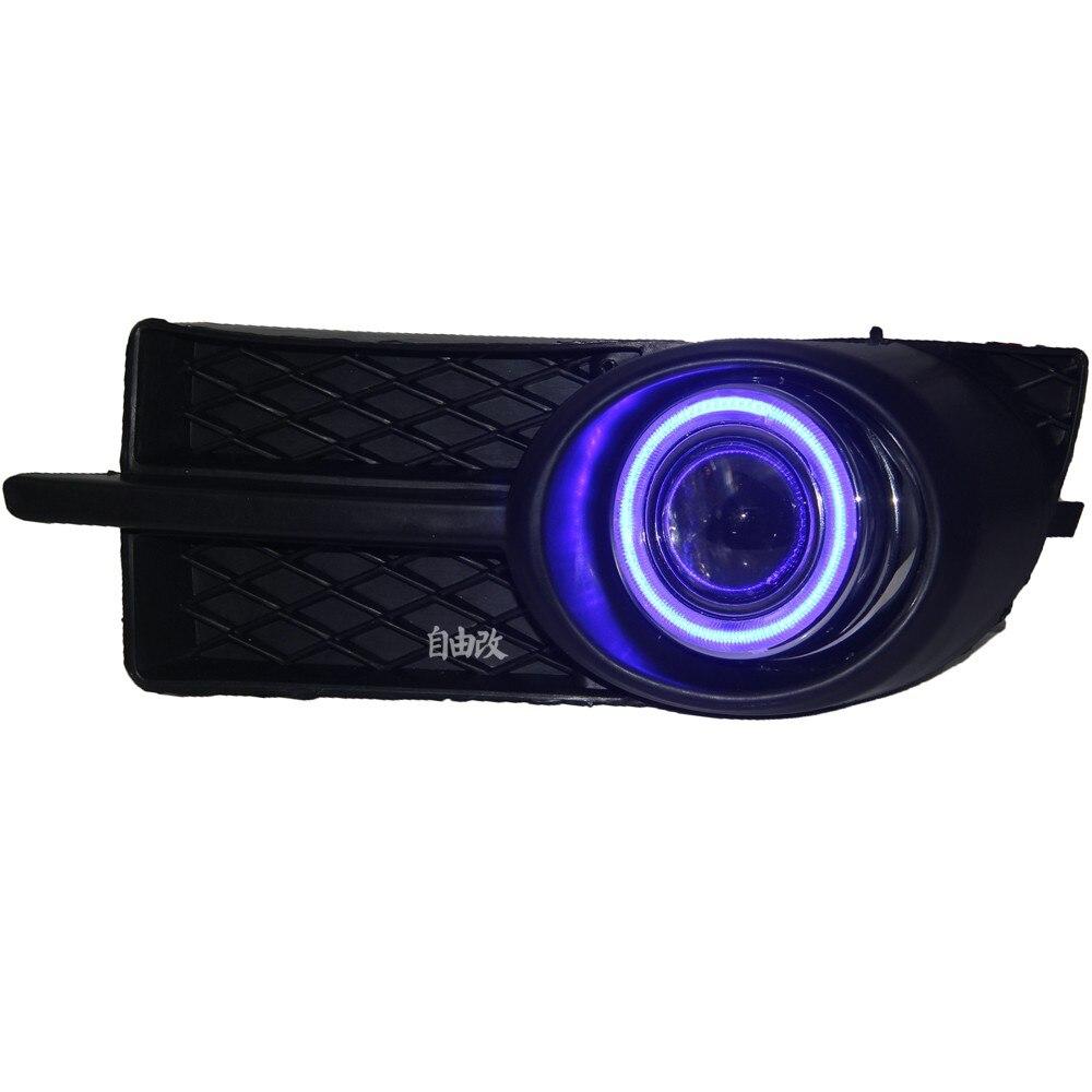 Cob ангел глаз DRL дневного света + галогеновые противотуманные фары + объектив проектора + противотуманные лампы чехол для Chevrolet лова 2006-2008, 2шт