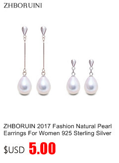 HTB1 NqybfBNTKJjSszeq6Au2VXau ZHBORUINI 2019 Pearl Necklace 925 Sterling Silver Jewelry For Women 8-9mm Crystal Ball Natural Freshwater Pearls Pearl Jewelry