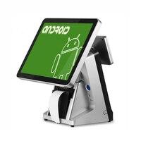 Бесплатная доставка POS1520 15 дюймов емкостный сенсорный pos машина ресторан кассовый аппарат android pos termianl Встроенный 80 мм принтера