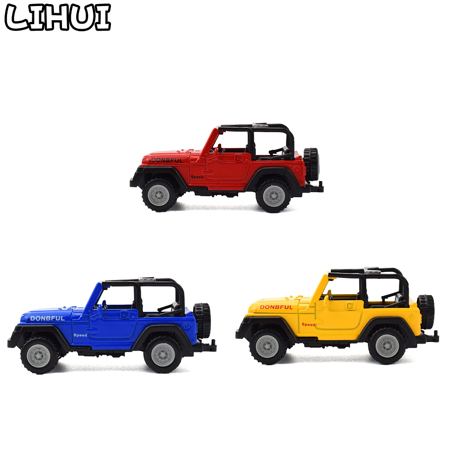 3 Colors Kids Toy Alloy Diecast Jeeps Wrangler Open Top Off Road Vehicles Mini Model Toys For Children Boys Glide Car Toy Gifts