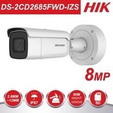 HIK переменным фокусным расстоянием 2,8-12 мм пуля IP Камера DS-2CD2685FWD-IZS 8-мегапиксельная видеонаблюдения Видеокамера POE CCTV H.265 ИК 50 м
