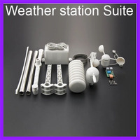 APRS Weather Station Suite With Wind Speed Meter Wind Direction Instrument Rain Gauge