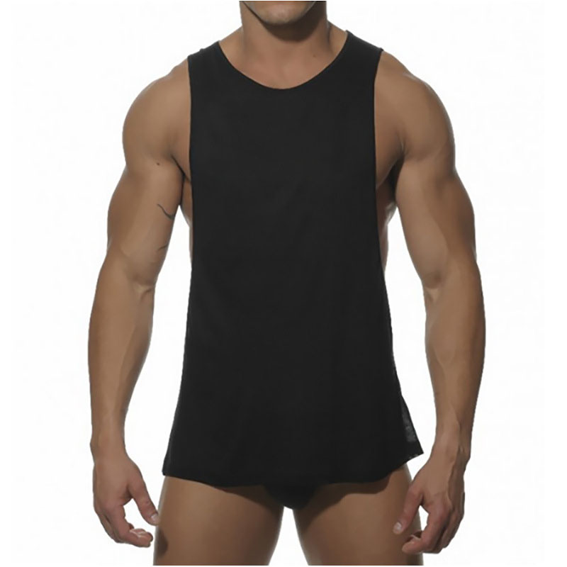 Solid Color Bodybuilding Mmen Ttank Top Fitness Shirts Sleeveless Workout Men Sportwear  ...