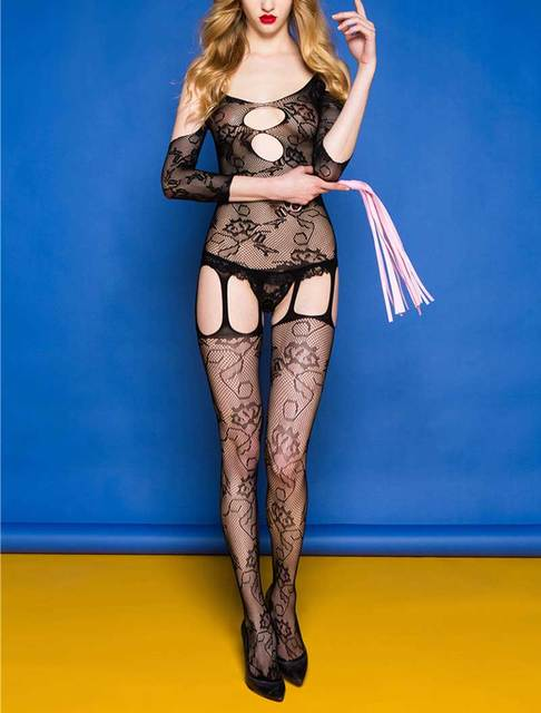 Candiway Open Crotch Sexy Lingerie Bodystockings Sexy Costumes Sexy Underwear Nightwear Bodysuit Sleepwear women Fishnet Teddy