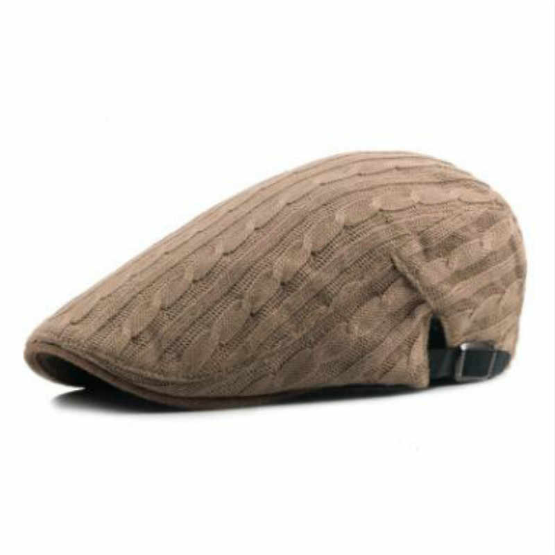 وهذا عارضة المرأة قبعة الدش الصلبة خمر شقة قبعة الرجال كابل الكروشيه الشتاء قناع الإناث قبعة موزع الصحف العظام