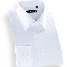 Большие размеры Весна мужские рубашки в простом стиле solid twill с отложным воротником мужские рубашки высокого качества рубашка в полоску мужские