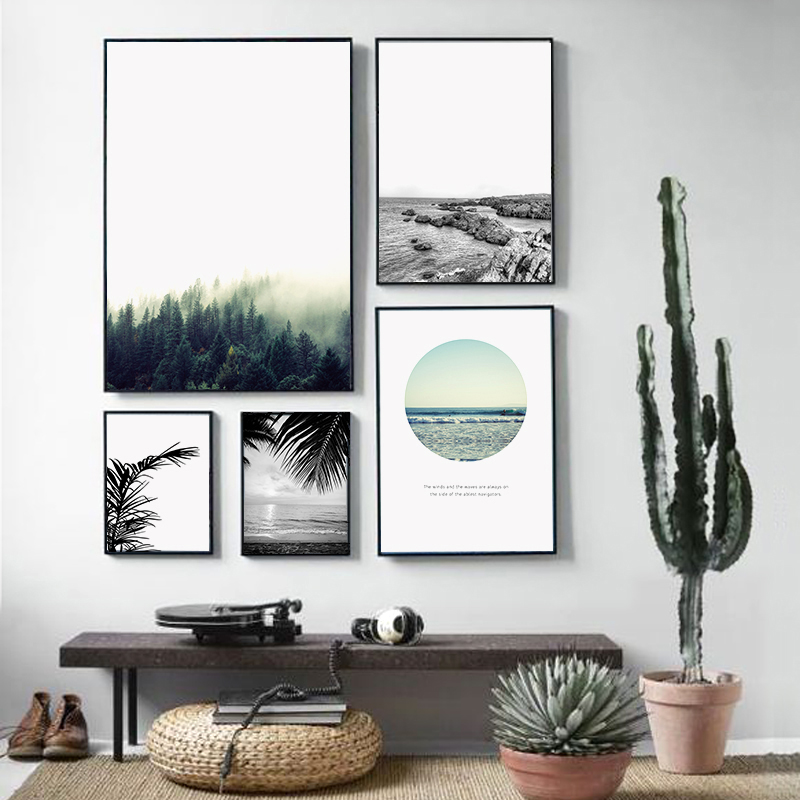 900d nordic landscape canvas art print painting poster forest wall pictures for home decoration