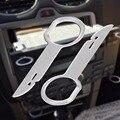 1 Par Estéreo Rádio Instalar Ferramenta de Remoção de Lançamento Chave Para Audi Mercedes Porsche Peças do Interior Do Carro Traço